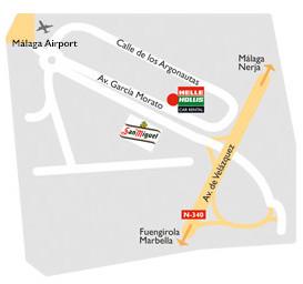 Mapa de la oficina de Helle Hollis en Málaga